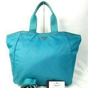Prada Tessuto vela nylon shopper shopping bag tote